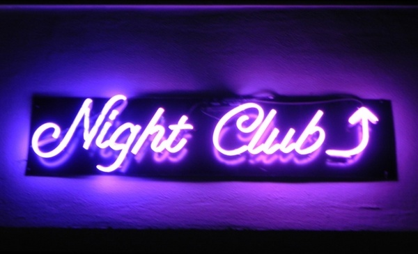 nightclub in neon