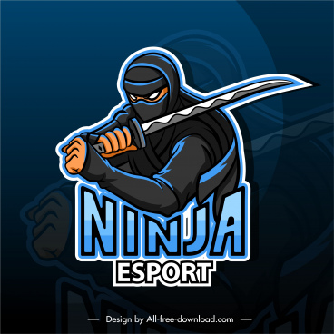 ninja background fighting gesture blurred dark design