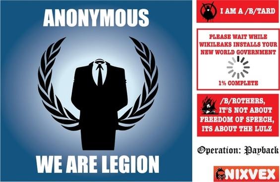 NixVex Anonymous Free Vectors