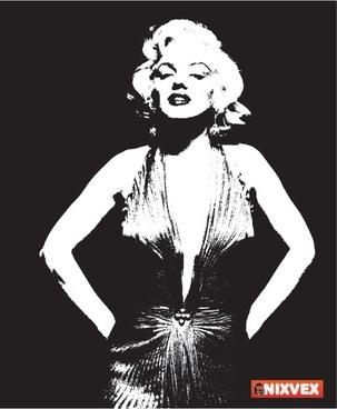 NixVex Free Marilyn Monroe Vector