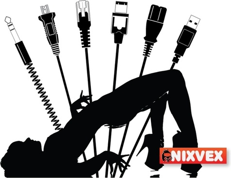 NixVex Plugged In Free Vector