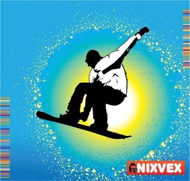"NixVex ""SnowBoarder"" Free Vector"