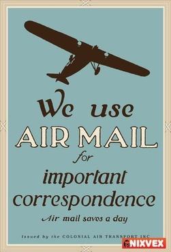 """NixVex """"We Use Air Mail"""" Free Vector"""