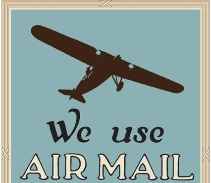 NixVex We Use Air Mail Free Vector