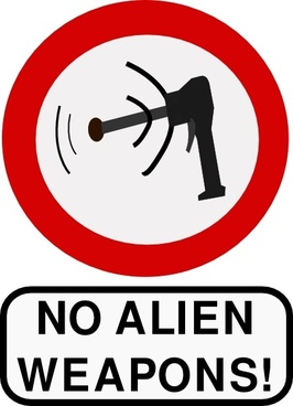 No Alien Weapons clip art