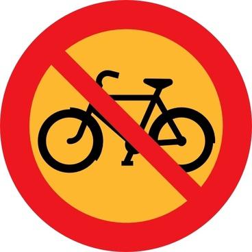 No Bicycles Roadsign clip art