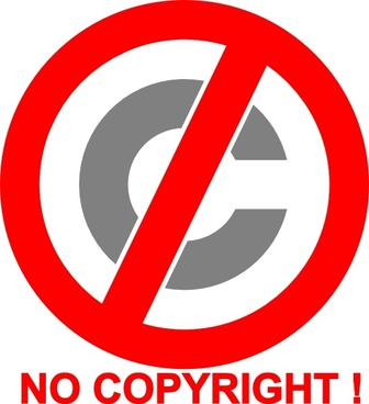 No Copyright Icon clip art