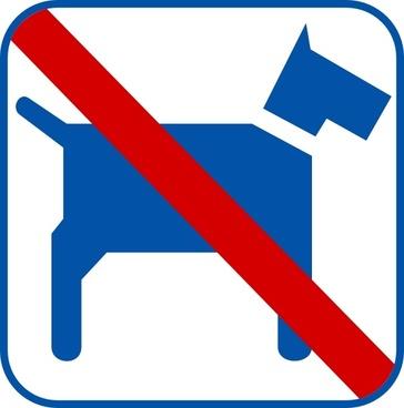 No Dogs clip art