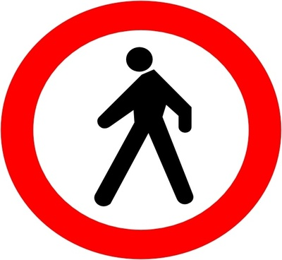 No Entrance Sign clip art