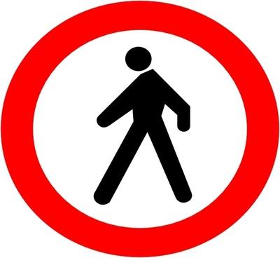 No Entrance Sign clip art