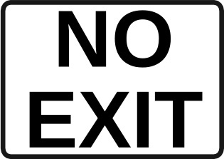 No Exit Sign clip art