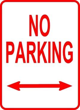 No Parking Sign clip art