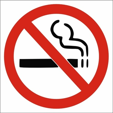 No Smoking Sign clip art