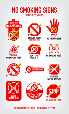 no smoking signs icons symbols
