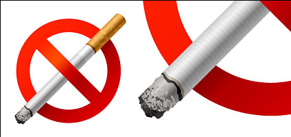 No Smoking vector material
