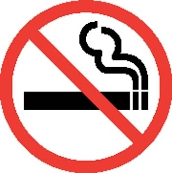 No smooking Sign Board Vector