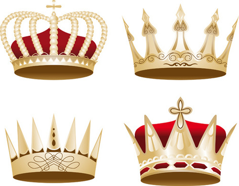 noble of crown design vector set