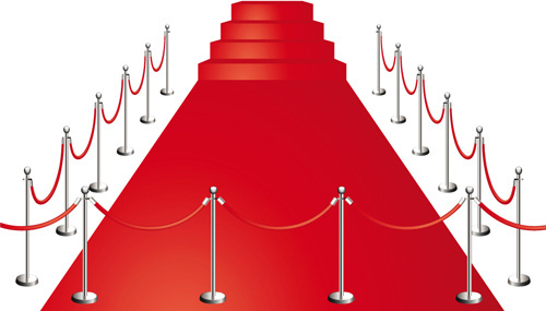 noble red carpet vector set