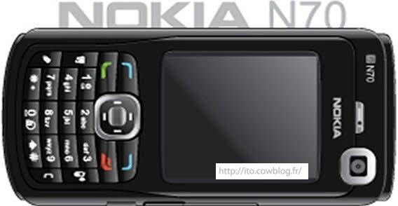 Nokia N70 Black cell phone vector