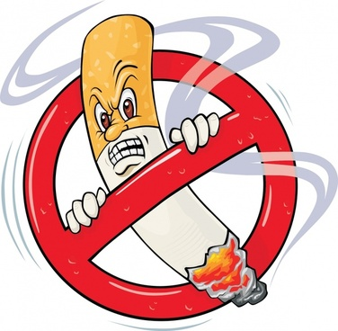 nonsmoking banner funny stylized cigarette icon