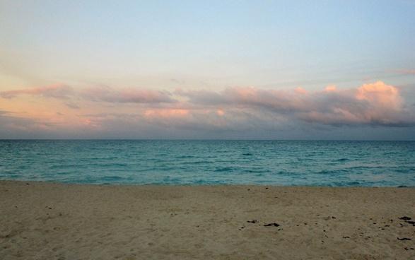 north beach horizon at miami florida