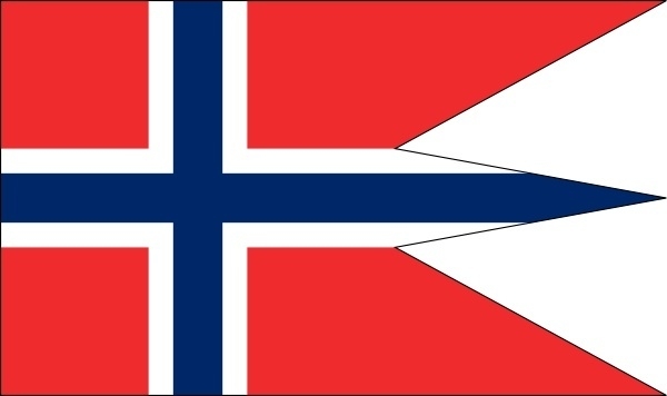 Norwegian State And War Flag clip art