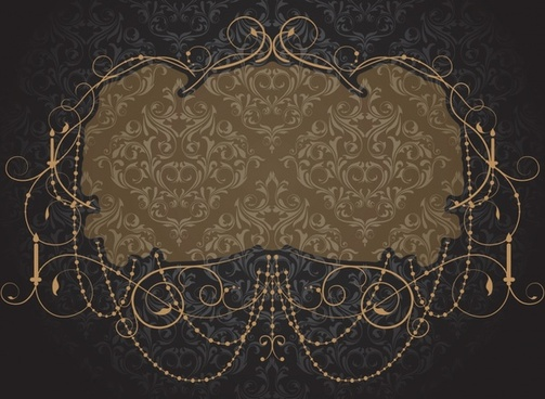 card background template dark elegant classic european frame