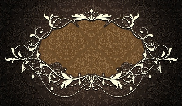 european frame template elegant dark classical symmetric decor