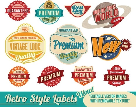 nostalgia trend label vector