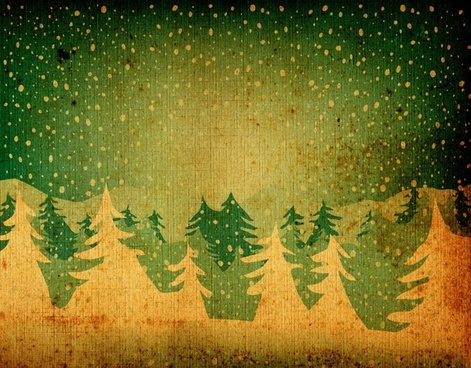 nostalgic christmas tree shading the background of 01 hd picture