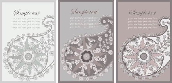 nostalgic rustic decoration background card vector 1