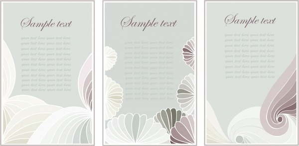decorative background templates colored handdrawn curves sketch