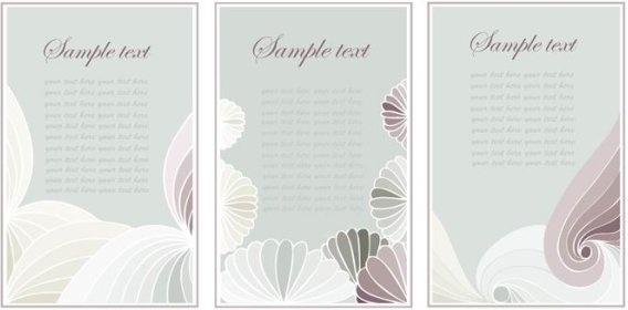 nostalgic rustic decoration background card vector 2