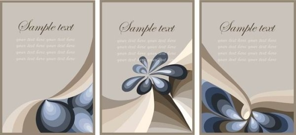 nostalgic rustic decoration background card vector 3