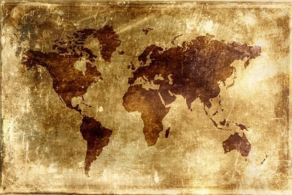 nostalgic world map background picture
