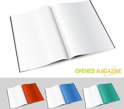open book icons shiny colored modern 3d design