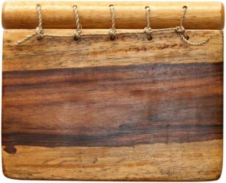 notebook wood brown