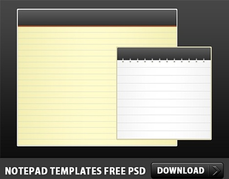 Notepad Templates Free PSD