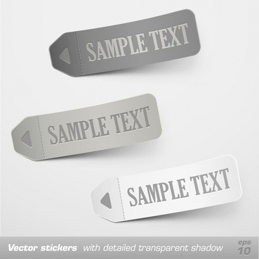 note tags templates modern 3d sketch horizontal design