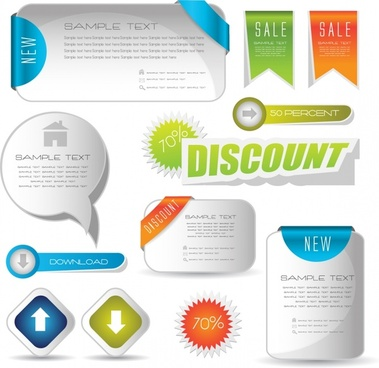 notes roll angle button label card vector