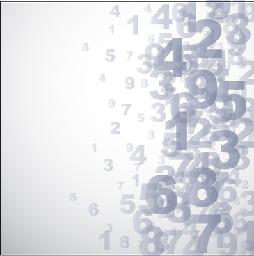 number gray background vector graphics