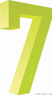 number seven icon vector