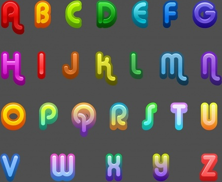 alphabet background modern colorful capital letters decor