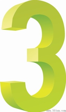 number three icon vector