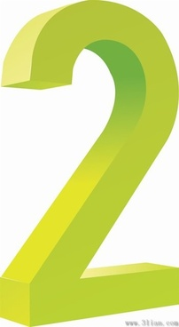 number two icon vector