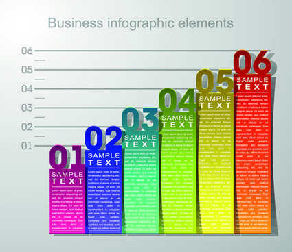 numbered banner business infographic vector