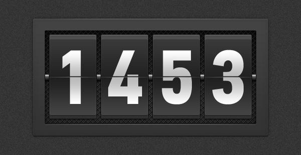 Numbered Flipboard