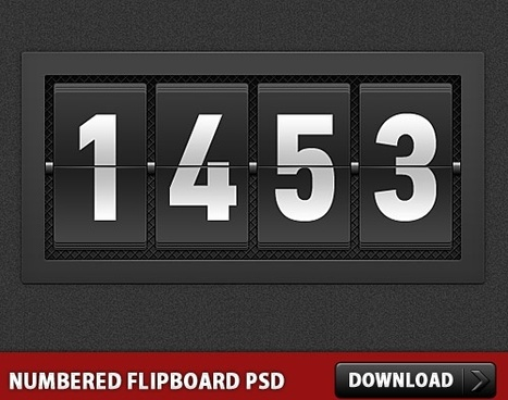 Numbered Flipboard PSD