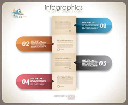 numbered infographics elements vector