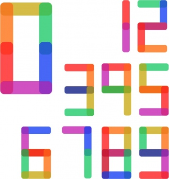 numbers background colorful digital design